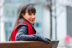Mariane-21 (TheEvilDonut Photography) Tags: woman portrait outdoors winter montreal beautiful stunning feminine longhair thin jacket