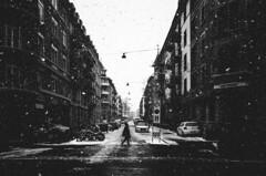 snowblind (matthias hämmerly) Tags: switzerland candid street streetphotography shadow contrast grain ricoh gr black white bw monochrom monochrome city town urban blackandwhite strasse people monochromphotography dark zürich zuerich rain lonely cold winter swiss einfarbig linien gebäude snow silhouette woman
