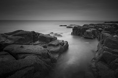 Channel (Peter Henry Photography) Tags: sea beach shore coast rocks tide waves longexposure monochrome blackandwhite nikon sigma leefilters sw150 35mm cumbria westcoast seascape photography