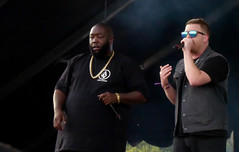 Run The Jewels (peterkelly) Tags: digital panasonic lumix zs50 canada northamerica festival concert music musician singer microphone mic mike parcjeandrapeau montreal quebec 2017 osheaga osheagamusicartsfestival sunglasses gold chain necklace rtj runthejewels killermike elp rapper rapping