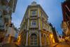 Rafael Del Castillo y Cia SA at Dawn, Cartagena Colombia (AdamCohn) Tags: kmtoin adamcohn cartagena colombia architecture bluehour bluesky colonial colonialarchitecture geo:lat=10424157 geo:lon=75549688 geotagged street streets wwwadamcohncom bolívar
