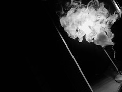 Smokey (doubleshotblog) Tags: theurbancinderella lightandsmoke iphone blackandwhite lowkey shisha smoke smok smoky smokey
