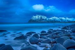 Soft Waves of Uttakleiv II (Normann Photography) Tags: hdr leknes lofoten utakleiv uttakleiv vestvågøy bluehourallday seascape shore softwavesofuttakleiv nordland norway no
