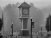 Clock Tower (brandonkitchen) Tags: lake tree pond mannequin mannequinhead bridge clock clocktower docks dock blackandwhite eerie creepy photography mysterious film