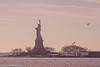 statue of liberty and a helicopter from liberty state park-00776 (Visual Thinking (by Terry McKenna)) Tags: statue liberty libertystatepark ellis island