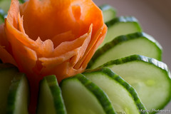 Tasty salad - Close up (kyrsos.) Tags: closeup macro cucumber carrot food salad plate green orange tasty decoration delicious diet fresh health healthy ingredients meal mediterranean natural raw red vegetable vegetarian crunchy cutted dinner herbs homemade juicy vegan vitamin