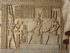 Ptolemy before Isis & Horus, Dendera (Aidan McRae Thomson) Tags: dendera temple egypt ptolemaic ancient egyptian