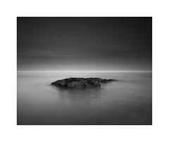 No Man's Land (^soulfly) Tags: longexposure daytime morocco seascape simplicity minimalistic minimalism canon ndfilter hoya ndx400 still life anfa casablanca bnw bw blacknwhite blackwhite monochrome mono