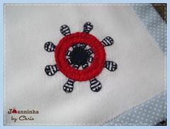 pano de boca timão (Joanninha by Chris) Tags: enxoval artesanato ursomarinheiro feitoamão handmade patchwork aplicaçãodetecidos enxovalbebe enxovalmenino azul baby panodeboca timão