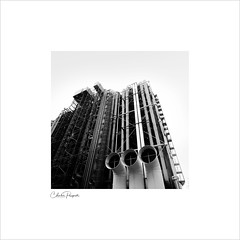 Pompidou centre (Charlie Pragnell) Tags: pompidou paris blackwhite architecturalphotography pompidoucentre squareformat noir industrialdesign wwwcharlespragnellphotographynet