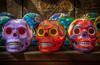 Poor Yorick and his colorful posse. (donnieking1811) Tags: arizona sedona guillermogardens yorick pooryorick skulls colorful bright art hdr canon 60d lightroom photomatixpro