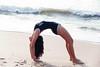 Yoga (Chọc Lủng) Tags: girl yoga sea nature beach sport