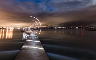 Light Spirals @West Kirby #2