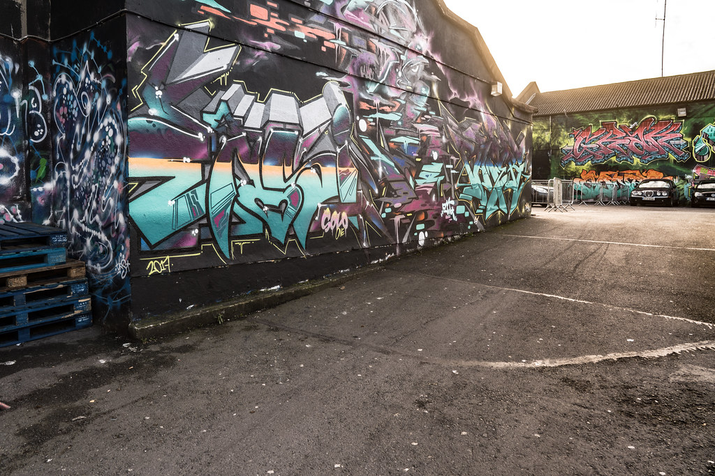 STREET ART AT THE TIVOLI CAR PARK IN DUBLIN [LAST CHANCE BEFORE THE SITE IS REDEVELOPED]-135620