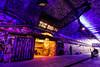 Leake Street aka Banksy Tunnel, London (Aethelweard) Tags: london england unitedkingdom gb art tunnel alternate street urban night light graffiti gallery colourful colorful waterloo underground color colors colours beautiful intense purple streetart