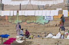 Wash and dry (Tim Brown's Pictures) Tags: india varanasi benares ganges river gangesriver religion hindu hinduism pilgrims travel color people boats uttarpradesh up