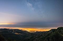 Malibu fog and Milky Way (lucmena) Tags: astrophotography california colorful fog longexposure malibu milkyway night outdoor pacificcoasthighway pacificocean santamonicamountains scenic starrysky stars summer losangeles ca usa