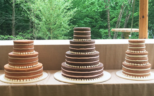 Naked Wedding Cake Trio