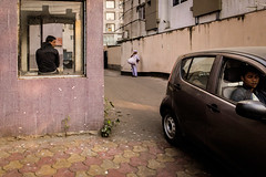 Untitled (koushiksinharoy1) Tags: room outdoor people men public place space flat glass boy worker colour streets streetphotography india kolkata afternoon winter flickr photography car driver watchman triangle shapes square