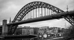The Tyne Bridge. . . (CWhatPhotos) Tags: bridge crossing span river tyne looking up sky skies photographs photograph pics pictures pic picture image images foto fotos photography artistic cwhatphotos that have which with contain gateshead wear north east england uk newcastle upon mono monochrome black white olympus penf pen f micro four thirds 43 camera 17mm f18 prime zuiko lens
