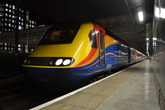 East Midlands Trains HST 43048 (Will Swain) Tags: london st international station 21st november 2017 greater capital city south east train trains rail railway railways transport travel uk britain vehicle vehicles country england english stagecoach group class 43 high speed power car midlands hst 43048 pancras