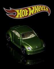02469376264-97- Hot Wheels 2012 Volkswagen Beetle-1 (Jim There's things half in shadow and in light) Tags: 2012volkswagenbeetle canon5dmarkiv hotwheels tamronsp90mmf28dimacro11vcusd vw bug car classiccar closeup flame green macro red reflection toy yellow