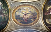 Eugene Delacroix's ceiling painting, St. Michael defeats the Devil, in the Chapel of Guardian Angels in the church of Saint-Sulpice, Paris, France (thstrand) Tags: ruebonaparte odéonquarter vanquished vanquishing vanquish lucifer marouflage satan 1850 1850s 1860 1860s 19thcentury 6tharrondissement art arts artwork bible biblicalhistory canvas ceiling chapelofangels chapelofguardianangels chapelledessaintsanges christiansymbols christianity churchofsaintsulplice defeat defeating defeats depiction devil eglise eugenedelacroix europe european evil fighting finearts france french germaindespresdistrict goodvsevil kill killing michel mural murals myth mythologicalcreature mythology nobody oilpainting ovalshape painted painting paintings paris religion religiousart saintmichael saintmichel saintsulplice slay slaying stmichael stsulplice story tourism touristattraction traveldestination traveldestinations visualarts wingedcreature wings