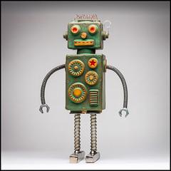 I Robot (Rodrick Dale) Tags: i robot pottery metal gears steam punk mixed media
