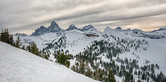Teton View from Grand Targhee_Panorama2 (maryannenelson) Tags: wyoming grandtarghee ski landscape winter clouds sky mountains pines snow panorama tetons
