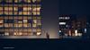 The night off (yawp74) Tags: fuji xt1 xf23 night shadow street windows offices geometry walk lights