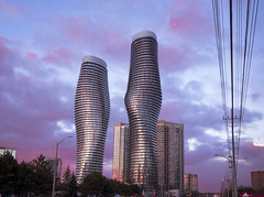 Absolute Towers (Marlyn Monroe), Mississauga, Ontario (ravi_pardesi) Tags: mississauga ontario canada winters sunset dusk evening towers marlyn monroe absolute gta real estate cotton candy skies cloudscape surreal