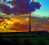 How I long for a sunset like this..... (littlestschnauzer) Tags: emley moor mast skies bright colours clouds dramatic 2017 winter november
