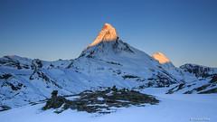 Matterhorn (francoispobez) Tags: mountain mountains matterhorn höhbalmen zermatt suisse schweiz switzerland neige ice glace cairn sunrise lever soleil