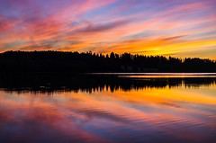 Sunset (Stefano Rugolo) Tags: stefanorugolo pentax k5 pentaxk5 smcpentaxda1855mmf3556alwr ricohimaging sunset colors sunsetmagic sky lake water reflection silhouette forest tree ripples hälsingland sverige sweden