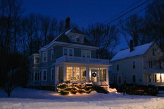Christmas in Andover (ScotchBroom) Tags: andoverma andover massachusetts essexcounty essexcountyma winter snow dusk night house home christmas christmaslights christmasdecorations