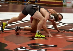 BRO-STA 149 2018-01-13 DSC_8242 (bix02138) Tags: brownuniversity brownbears stanforduniversity stanfordcardinal pizzitolasportscenter pizzitolasportscenterbrownuniversity providenceri january13 2018 wrestling sports intercollegiateathletics athletes jocks ©2018lewisbrianday 149pounds 149 zachkrause jakebarry