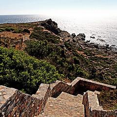 Crete, Greece (pom'.) Tags: 100 canoneos400ddigital 2010 july crete greece sea mediterraneansea stairs 200