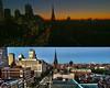 Boston Skyline Compilation Morning & Night (JKIESECKER) Tags: boston bostonmassachusetts citylife cityscenes cityscapes citystreets city citynighttime cityskyline cityviews cities citylights photocompilation orange blue