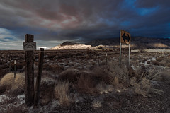 (el zopilote) Tags: sandiapueblo newmexico sandiamountains street landscape powerlines clouds signs canon eos7d canonefs1018mmf4556isstm 500