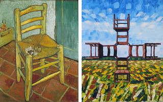 Vincent's Chair with His Pipe iii by Van Gogh 1888 and Anthony D. Padgett 2017