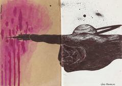 ensaio da civilização 2 (Lídio Ramalho) Tags: drawing pink hand saturn space paper pen black desenho rosa mãos saturno espaço papel caneta preto