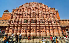 Hawa Mahal (Wind Palace) in Jaipur, India (phuong.sg@gmail.com) Tags: ancient arch architecture asia brick castle cultural culture day delhi dome door educational empire famous fort fortress hawa hinduism india indian islam jaipur landmark mahal marble monument mughal national nations old organization palace pradesh red safety security structure tourism tower town uttar walls wind