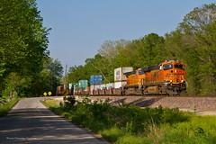 National Train Day - Train #7 (tim_1522) Tags: railroad railfanning rail missouri mo bnsf cuba sub subdivision nationaltrainday2014 intermodal generalelectric gevo es44c4 c449w colorful
