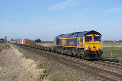 66770 24-02-18 (IanL2) Tags: gbrf class66 66770 cambridgeshire railways trains emd locomotive fens