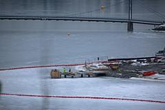 stupetårn (Leifskandsen) Tags: work doings ice oslofjorden cold winter bridge beach norway camera canon living leifskandsen skandsenimages scandinavia skandsen sea coast nature scandinavien