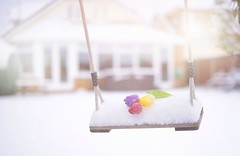 Snow Swing... (Debbie Louise Hutchins) Tags: swing garden gardenscape gardenswing cottage cottagegarden flower flowers tulip tulips bokeh february winter flora winterflora snow snowscape nikon nikond750 50mm f14 sigmaart stilllife creativeart creativephotography bokehlicious dof depthoffield dofalicious fun
