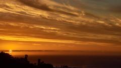 Sky over the Atlantic Ocean (flowerikka) Tags: africa atlanticocean atmosphere campsbay capetown clouds colorful eveningmood eveningsun kapregion light mountainrange sea sky southafrica summer sun sunset twelveapostel view water