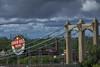 Hennepin Avenue Bridge and Grain Belt sign (schwerdf) Tags: bridges grainbeltsign hdr hennepinavenuebridge millingdistrict minneapolis minnesota