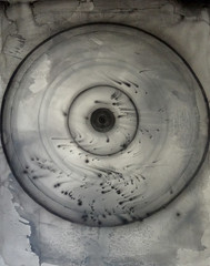 DSC0967390 (scott_waterman) Tags: scottwaterman painting paper ink watercolor gouache enso zenbuddhism absoluteenlightenment strength elegance theuniverse mu thevoid
