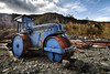 Big Blue Roller (Swirly_Magnolia) Tags: diesel roller steam road ocks blue rust red rusty bright monster truck machine engine swirly magnolia vehicle steamroller threlkeld quarry drama dramatic dark old unused worn
